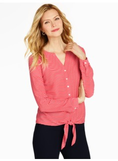 Refined Stripes Blouse
