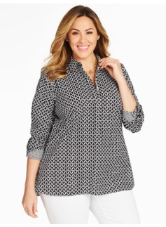 The Perfect Wrinkle-Resistant Popover - Trefoil Print