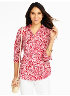 The Perfect Three-Quarter Sleeve Shirt - Bubble Floral