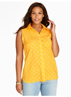 The Perfect Sleeveless Shirt - Polka Dots