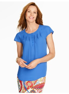 Pintucked Dolman Blouse