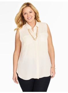 Sleeveless Georgette Shirt