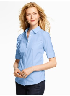 The Perfect Elbow-Sleeve Shirt  - End-On-End