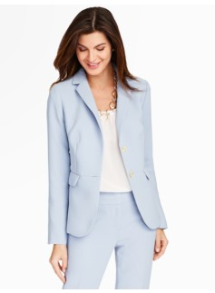 Refined Crepe Notched Collar Blazer
