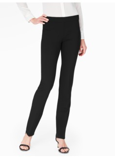 Luxe Double-Weave Straight-Leg Pant