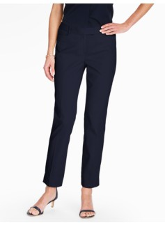 Talbots Hampshire Ankle Pant - Curvy/Cotton Pique