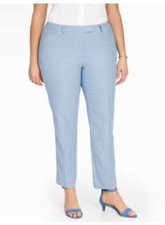Talbots Hampshire Ankle Pant - Dobby Weave