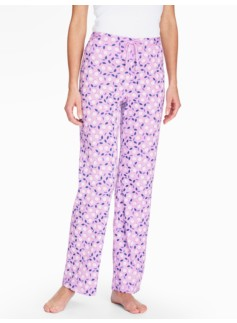 Bright Print Pajama Bottoms-Tulip