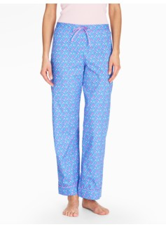 Bright Print Pajama Bottoms-Cherries