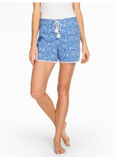 Flower Paisley Sleep Short