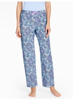 Bright Print Pajama Bottoms-Medallion Paisley