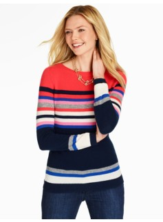 Cashmere English Stripe Sweater