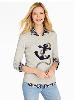 Seedstitch Anchor Sweater