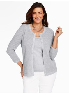 Charming Cardigan - Sparkle Chevron