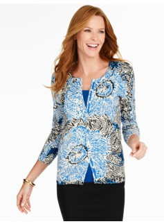 Painterly Floral Charming Cardigan