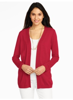 Pointelle-Trimmed Cardigan
