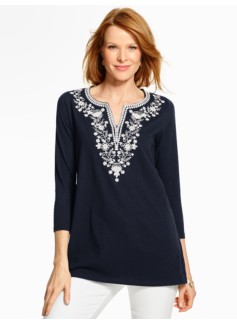 Embroidered Tunic Tee