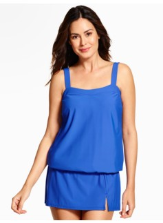 Breezy Blouson Tankini Top