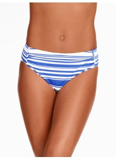 Shirred Swim Bottoms - Tropical Stripes