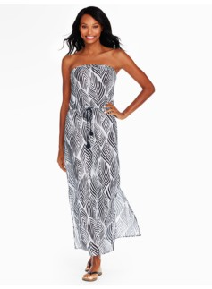 Palm Leaf Maxi Dress