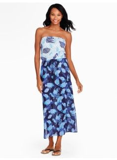Colorblocked Sealife Maxi Dress