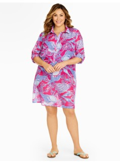 Womans Seashell Shirt Cover-Up