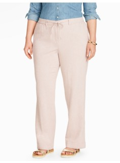 Relaxed Drawstring Wide-Leg Pant