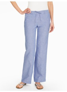 Relaxed Wide-Leg Pant - Amalfi Stripes