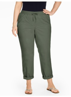 Easy Drawstring Roll-Cuff Pant