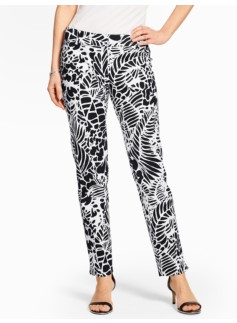 Talbots Hampshire Ankle Pant - Tropical Palms Piqu�