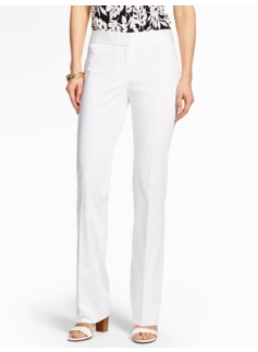 Refined Sateen Bootcut Pant