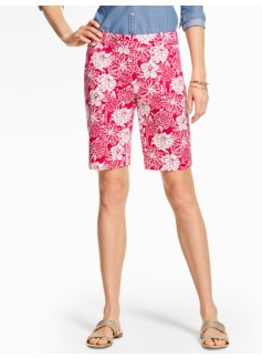 "9"" Twill Short - Lovely Flower Print"