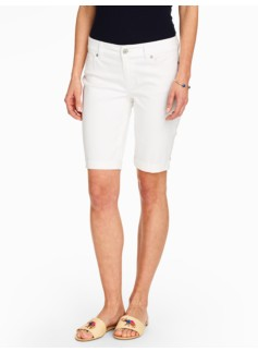 The Five-Pocket Boyfriend Short - White