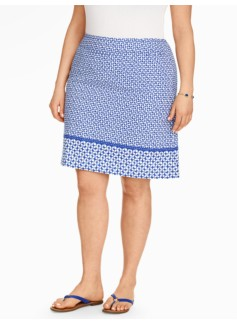 Cotton A-Line Skirt - Circles & Stars