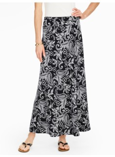 Knit Maxi Skirt - Tropical Paisley