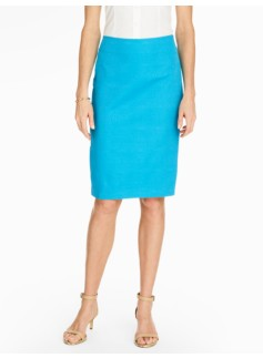 Cotton Pencil Skirt - Oval Jacquard