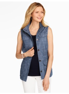 Safari Vest - Chambray