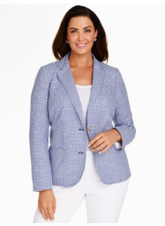 Gingham-Checks Blazer