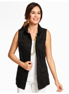 Sleeveless Safari Vest