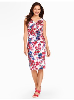 Flowers & Vines Jacquard Sheath