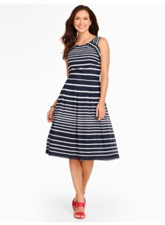 Mixed-Stripe Sundress