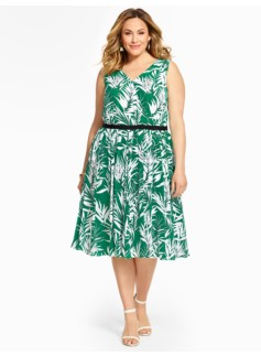Tropical Palms Dress
