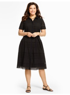Eyelet Shirtdress