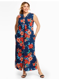Tropical Flowers Maxi Dress