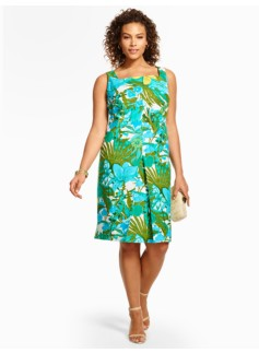 Rainforest Botanical Sheath Dress