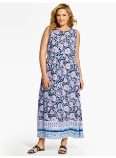 Paisley & Flowers Maxi Dress