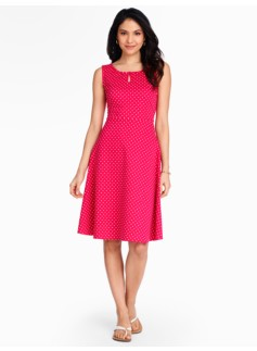 Edie Fit & Flare Dress - Fun Fair Dots