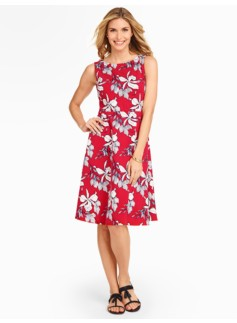 Edie Fit & Flare Dress - Climbing Irises