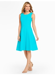 Edie Fit & Flare Dress - Ottoman-Ribbed