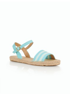 Ivy Ankle-Strap Sandals - Bold Stripe